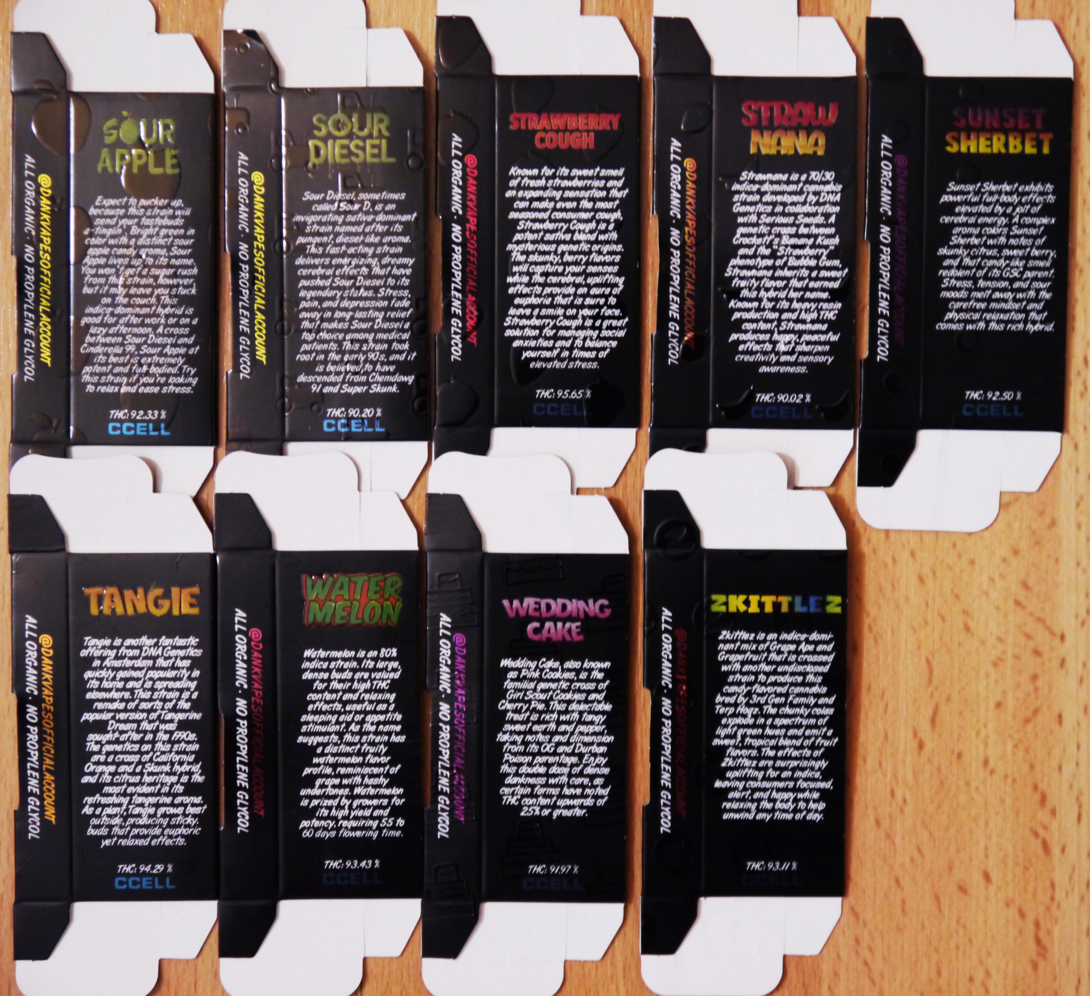 1000ct New Style Black Box Dank Vapes Side Window Box Packaging